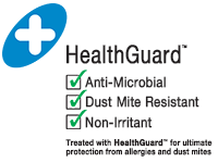 HealthGuard treated for dust mite resistance