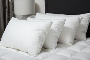 Commercial linen and pillows